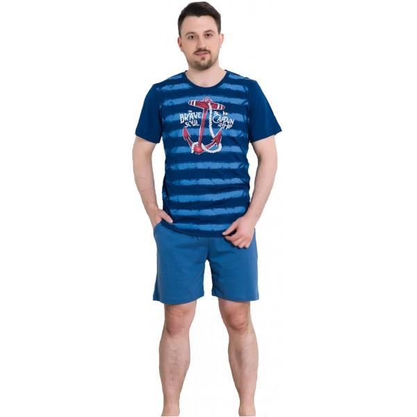 Pijama Hombre Corto Manga Corta The Captan