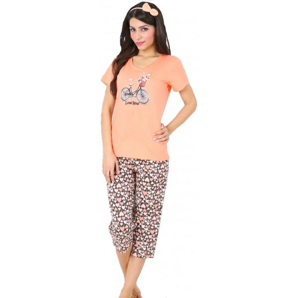 Pijama Pirata Manga Corta Mujer Bici