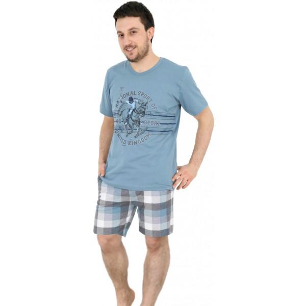 Pijama Hombre Corto Polo