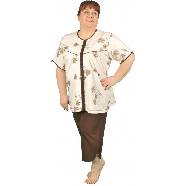 Pijama Talla Grande Pirata Mujer Clasico Botones