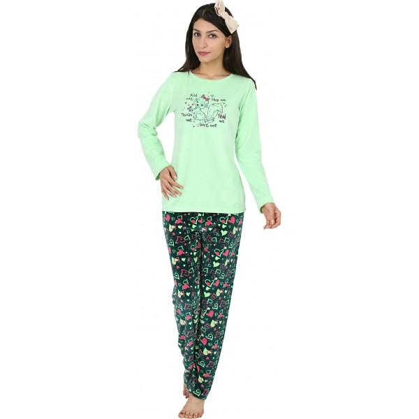 Pijama Terciopelo Largo Manga Larga Mujer Ardilla Tundosado