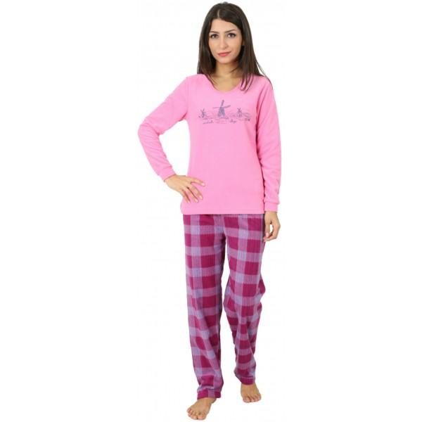 Pijama Polar Largo Manga Larga Mujer Molinos