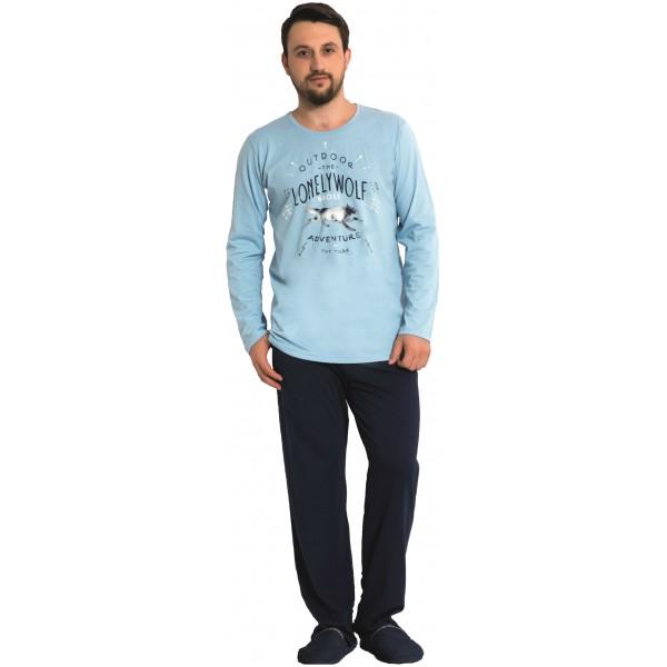 Pijama Hombre Largo Manga Larga