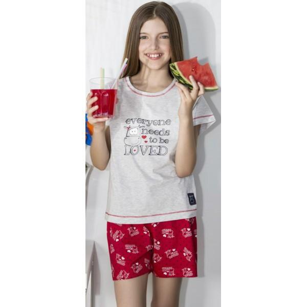 Pijama Corto Manga Corta Niña Everyone