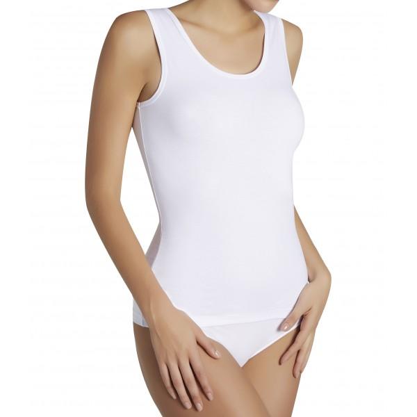 Camiseta Mujer TIrante Ancho Algodon Basica
