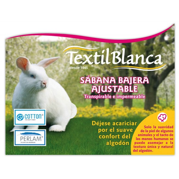 Sabana Bajera 105 Ajustable, Transpirable e Impermeable Cotton