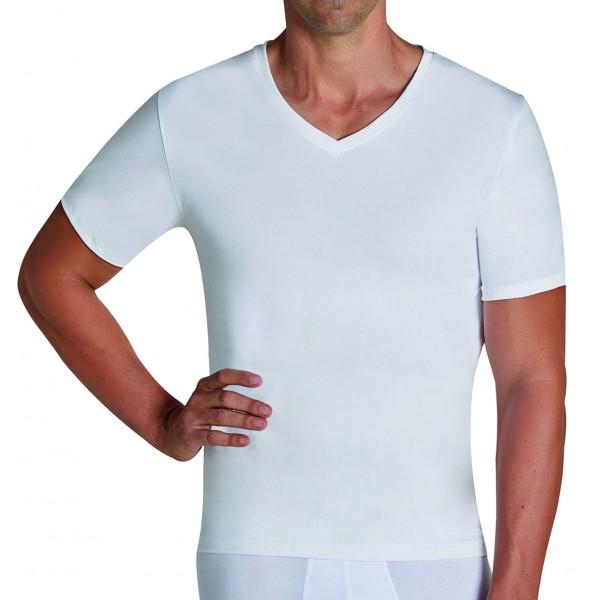 Camiseta Hombre Manga Corta Pico Algodon