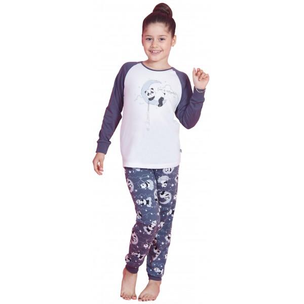Pijama Manga Larga Niña Luna Oso Polar