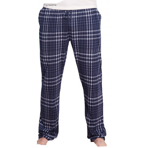 Pantalon Pijama Cuadros Marino