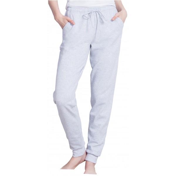 Pantalon Perchado/Felpa Mujer Liso Bolsillos