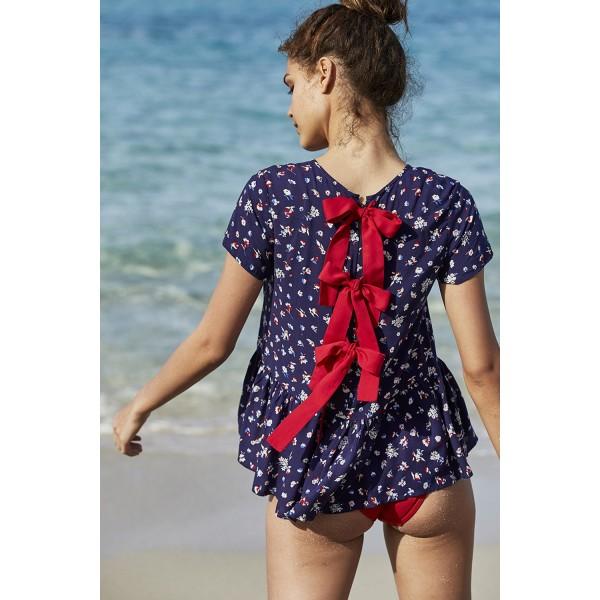 Camisa de Lazos Playa Flores