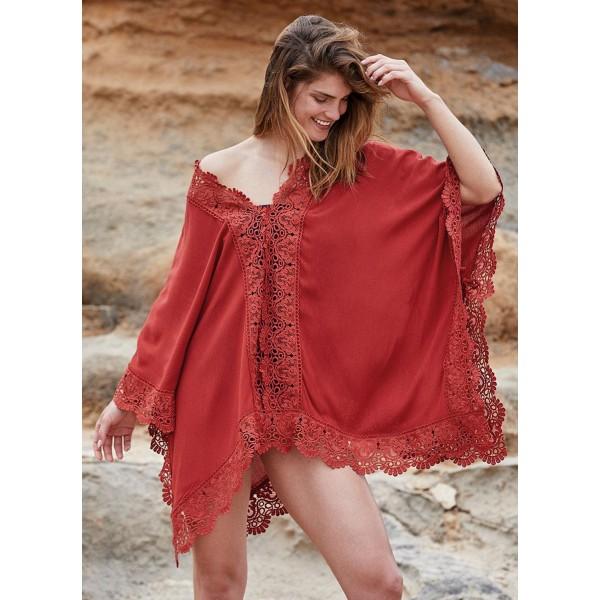 Kaftan Mujer Playa Encaje Marrakeck