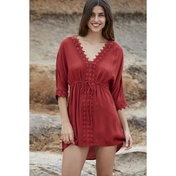 Vestido Mujer Playa Encaje Cordon Marrakech