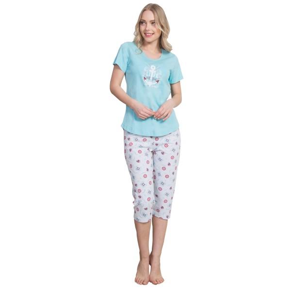 Pijama Pirata Maga Corta Mujer Ancla