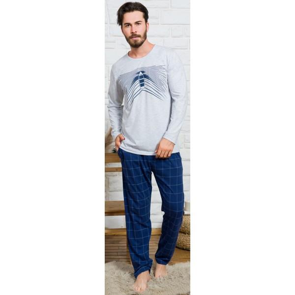 Pijama Hombre Largo Manga Larga Barco