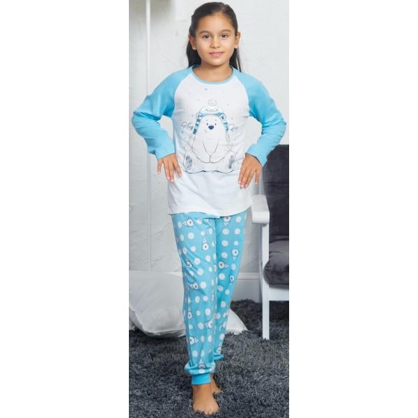 Pijama Manga Larga Niña Puño Osos