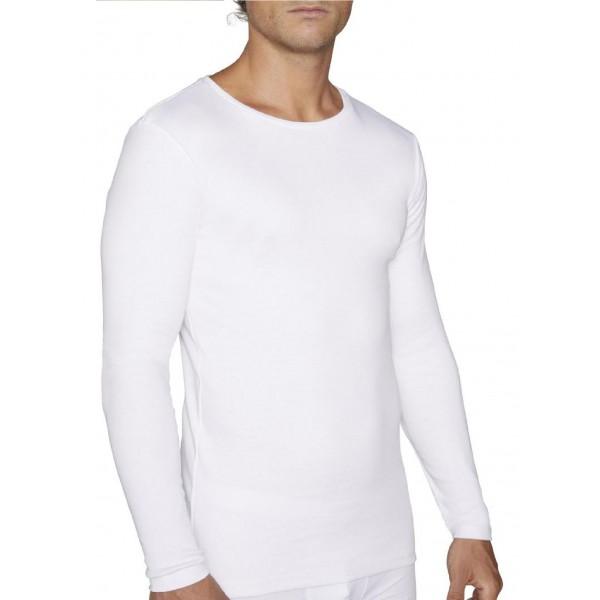 Camiseta Hombre Manga Larga Basica Algodon