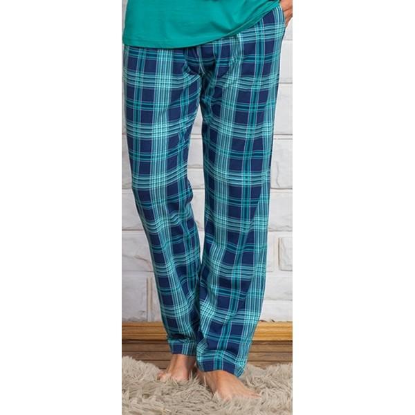 Pantalon Talla Grande Unisex Cuadro Gris