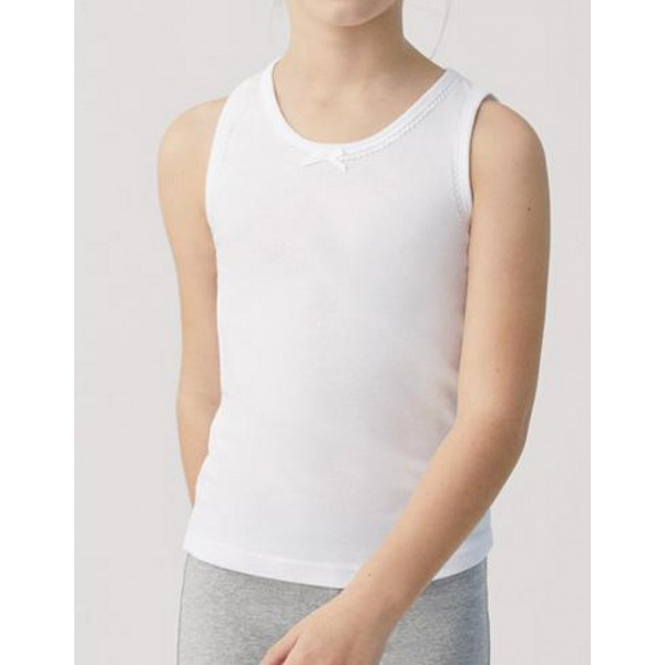 Camiseta Niña Tirante Ancho Algodon 100%