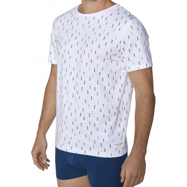 Camiseta Hombre Manga Corta Fantasia Faros Mar