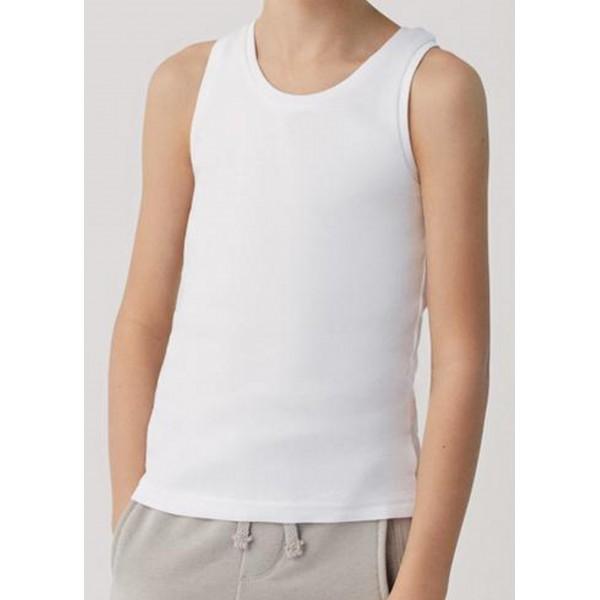 Camiseta Niño Tirante Ancho Algodon 100%