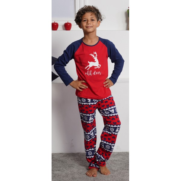 Pijama Manga Larga Niño Reno