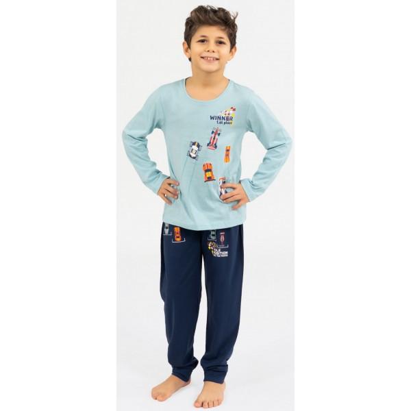 Pijama Manga Larga Niño Coches