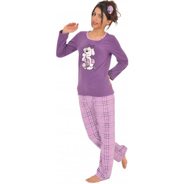 Pijama Polar Largo Manga Larga Mujer Perro